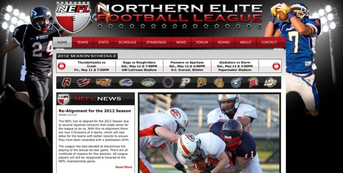 The BLÜ Group partners with Northern Elite Football League and creates a new website for them.