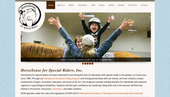 The BLÜ Group partners with HorseSense for Special Riders and creates a new website for them.