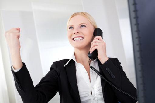 Businesswomen talking on the phone