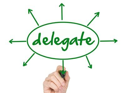 delegate responsibilities