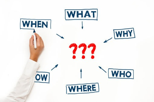 questions - who, what, when, where, why, how?