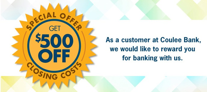 Coulee Bank Closing Cost Promotional Banner Ad