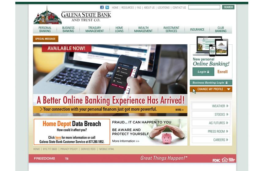 Galena State Bank Web Ad Graphics