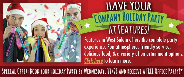 Features Holiday Party E-Newletter Ad