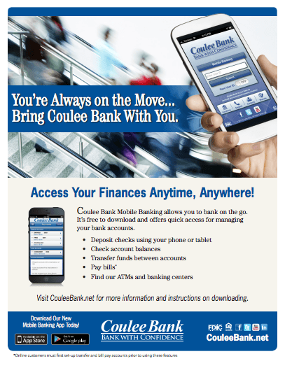 Coulee Bank Mobile Banking Flyer