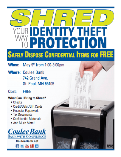 Coulee Bank ID Thieft Protection Flyer