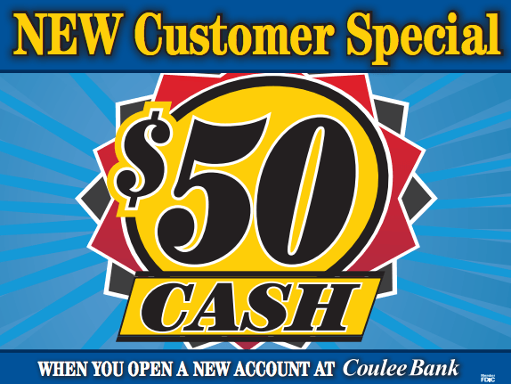 Coulee Bank New Customer Ad