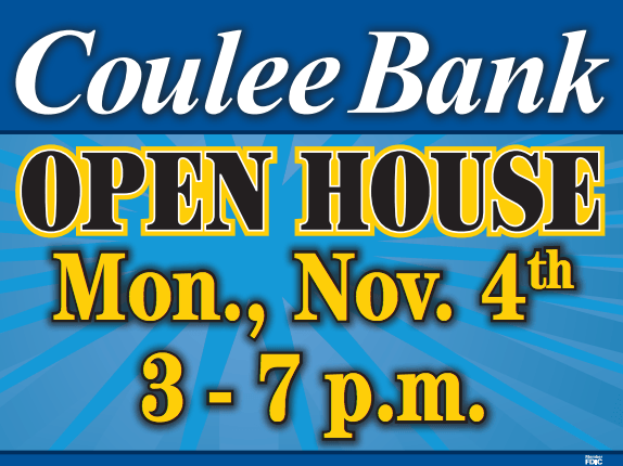 Coulee Bank Open House Ad