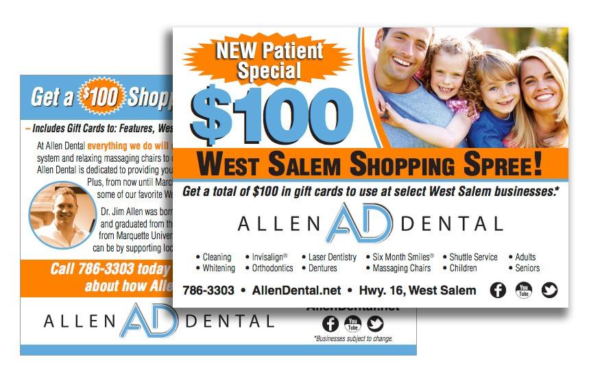 Allen Dental New Patient Special Direct Mail