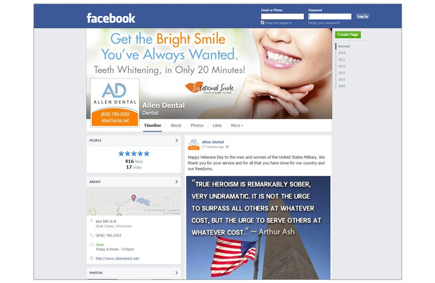 Allen Dental Facebook