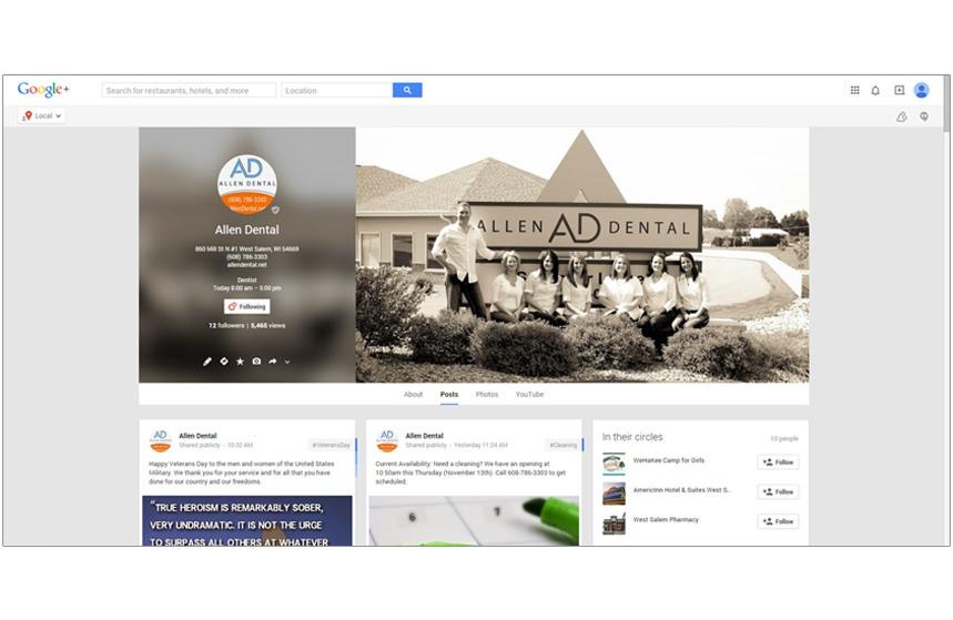 Allen Dental Google+