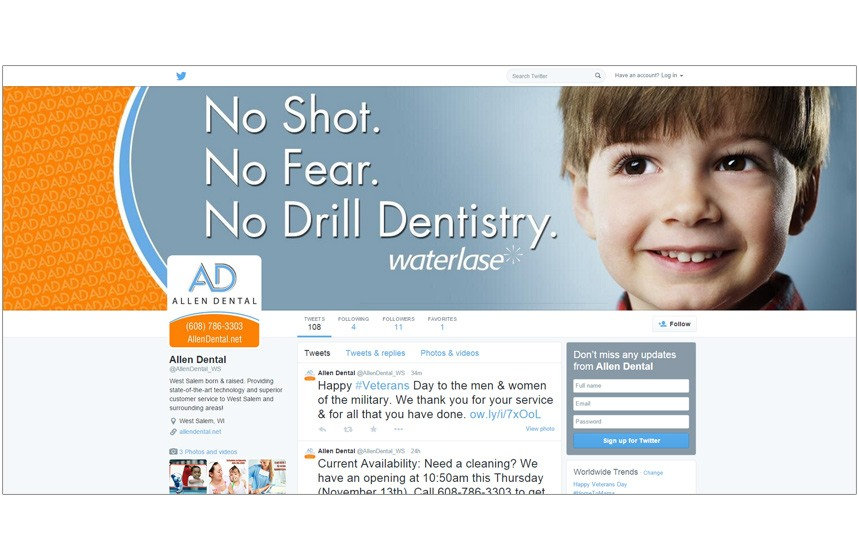 Allen Dental Twitter