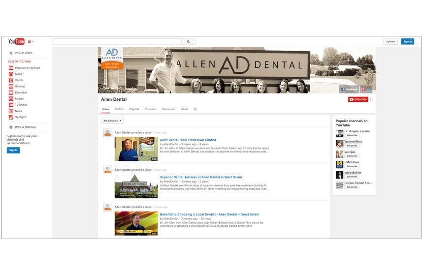 Allen Dental YouTube