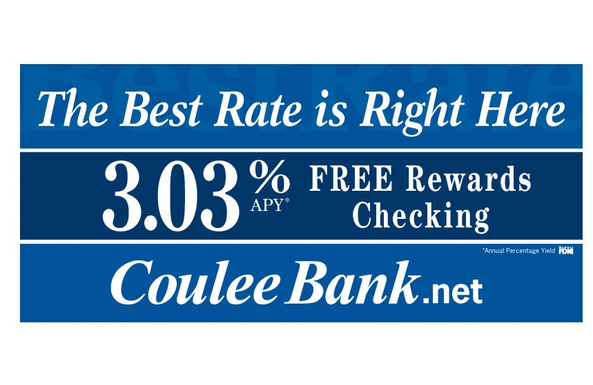 """Coulee Bank """"The Best Rate is Right Here"""" Rewards Checking Billboard"""
