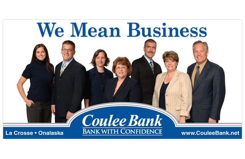 """Coulee Bank """"We Mean Business"""" Business Banking Billboard"""