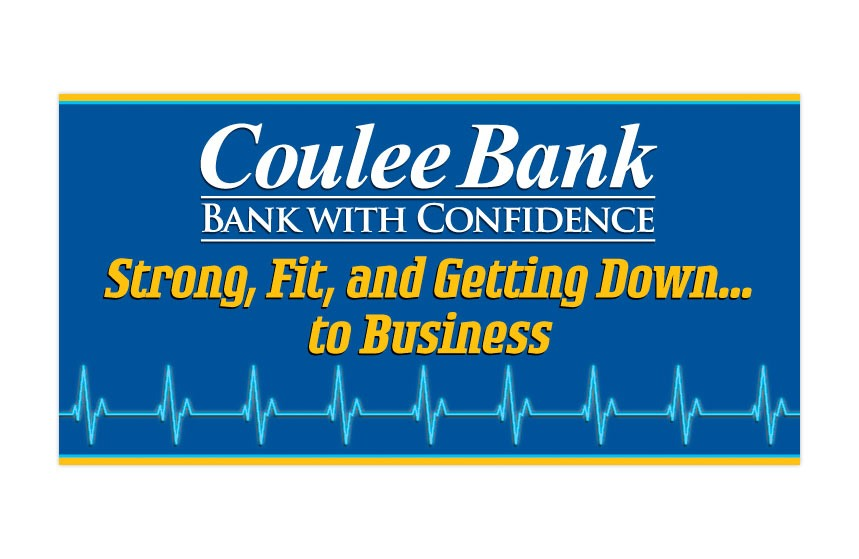 """Coulee Bank """"2011 Business Banking Expo"""" Tradeshow Banner"""