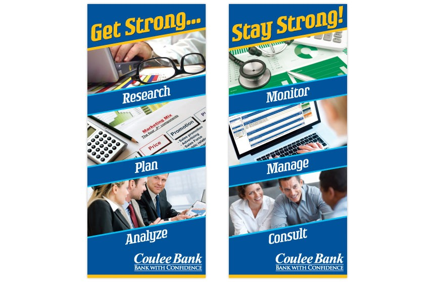 """Coulee Bank """"2011 Business Banking Expo"""" Tradeshow Banner - Set 1"""