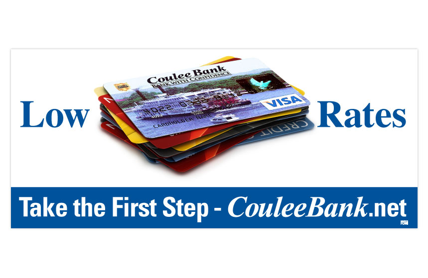 """Coulee Bank """"Take the First Step"""" Bill Pay Billboard"""