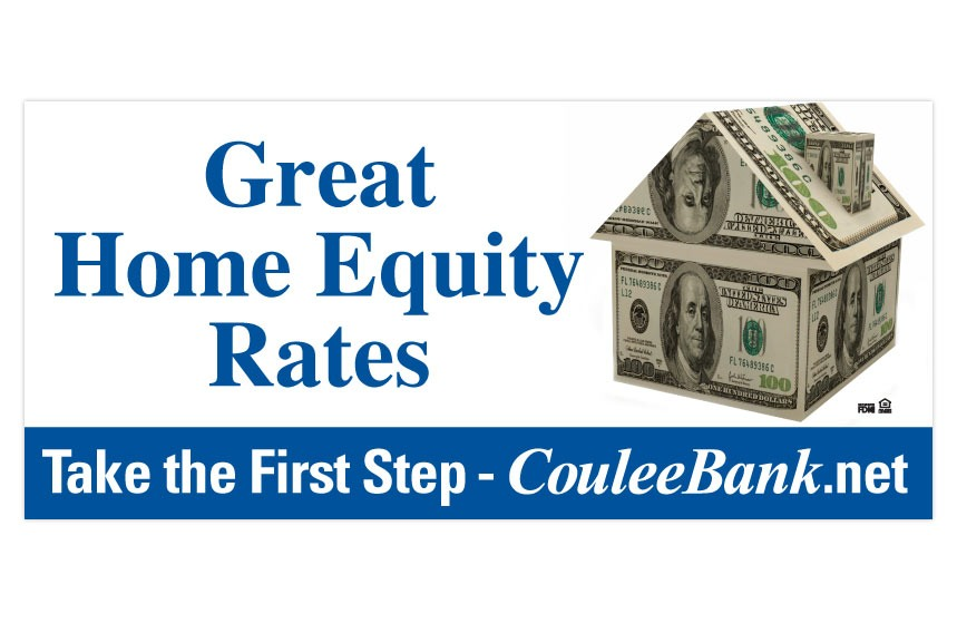 """Coulee Bank """"Take the First Step"""" Home Equity Line of Credit Billboard"""