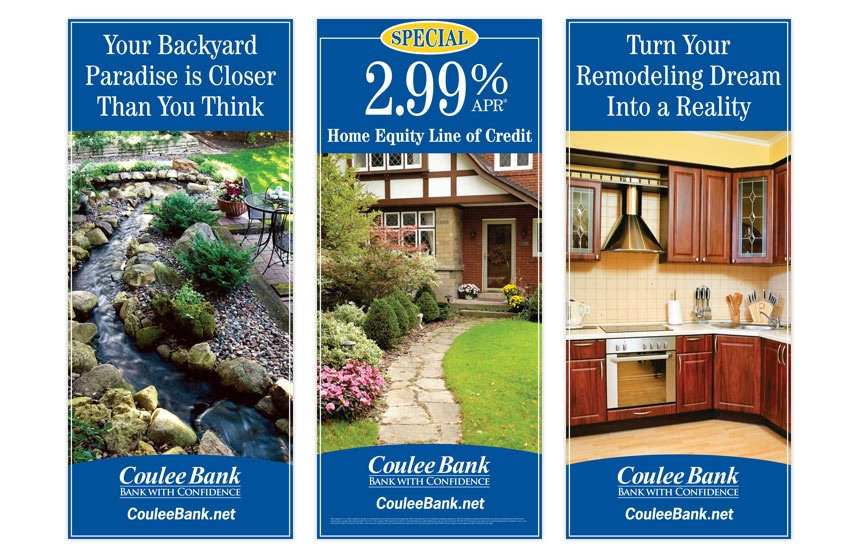 """Coulee Bank """"Home and Garden Expo"""" Home Equity Line of Credit Tradeshow Banners"""