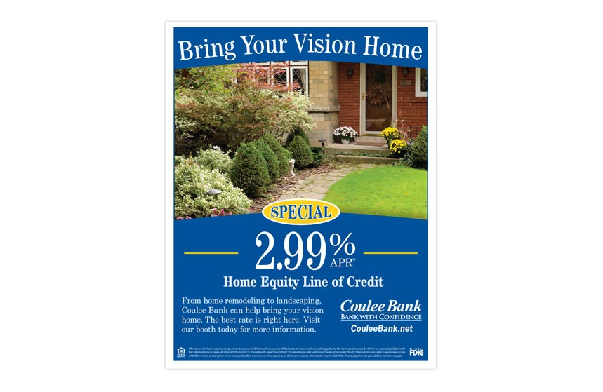 """Coulee Bank """"Home and Garden Expo"""" Home Equity Line of Credit Flyer"""