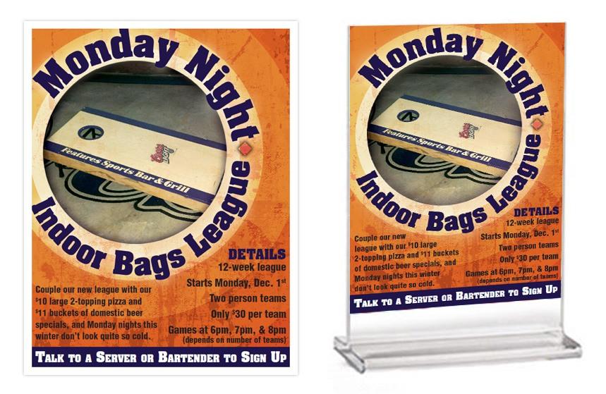 Features Indoor Bean Bag League Items