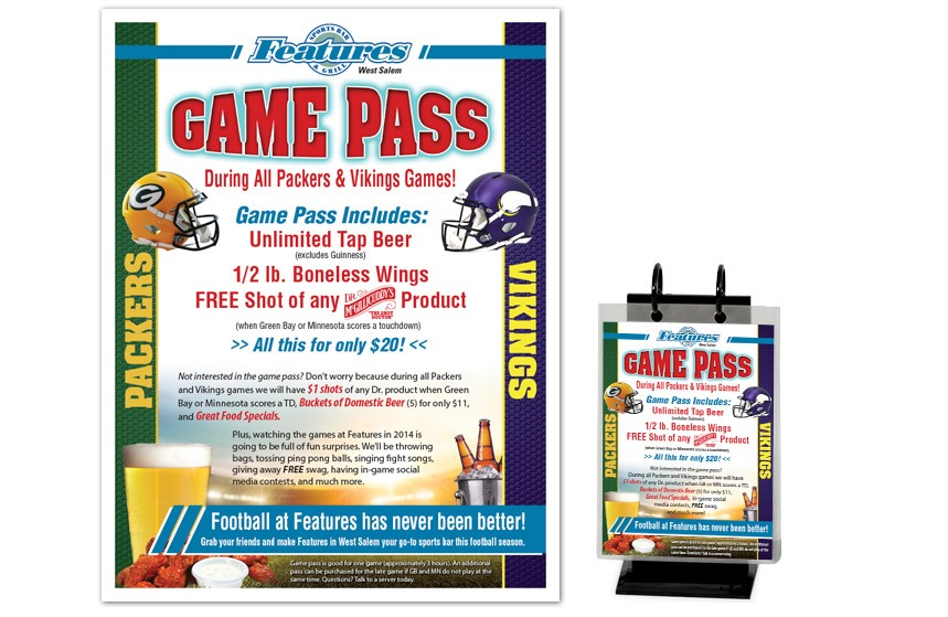 Features Sports Bar and Grill Promotion