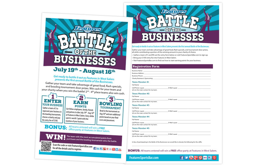 Features Battle of the Businesses Pieces
