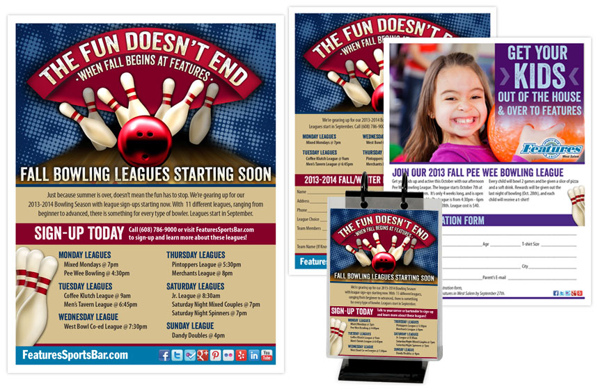 Features Fall Bowling League Pieces