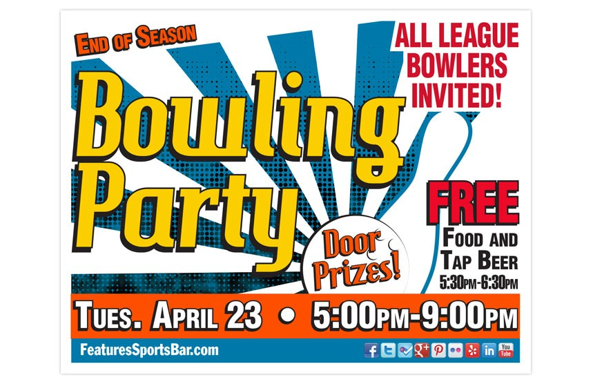 Features Season End Bowling Party