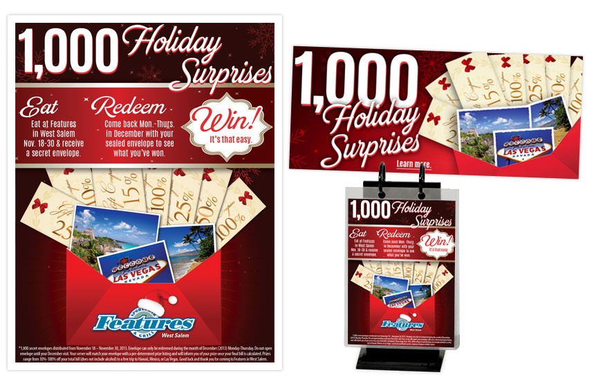 Features Secret Envelope Promo Items