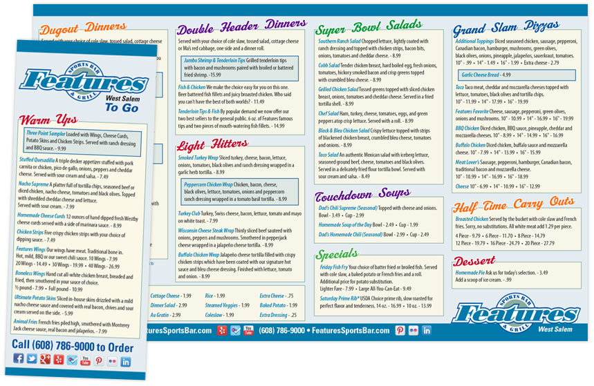 Features To-Go Menu