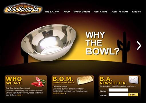 B.A. Burrito Co Website