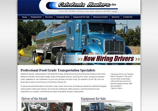 Caledonia Haulers Website