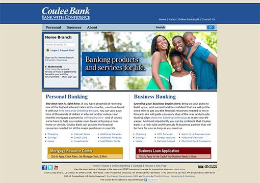 Coulee Bank Website