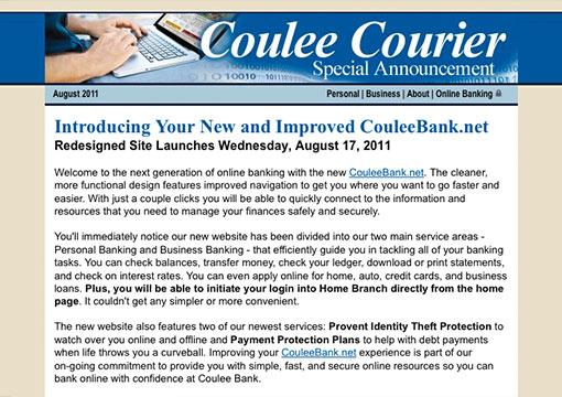 Coulee Bank e-news