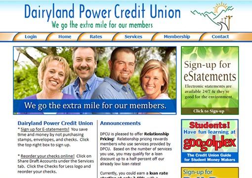 Dairyland Power Credit Union Website