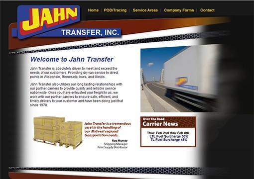 Jahn Transfer Inc Website