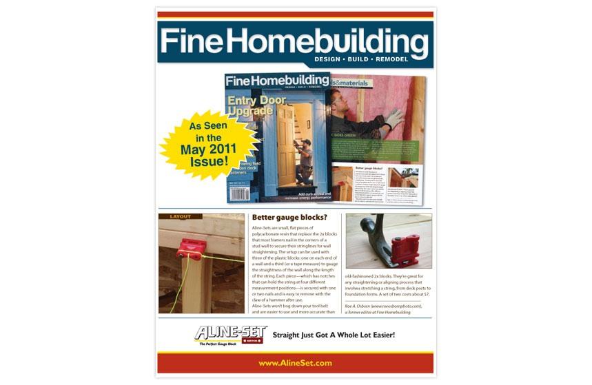 Aline-Set Fine Home Building Print Ad