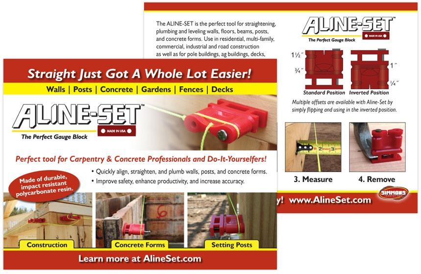 Aline-Set Retailer Postcard