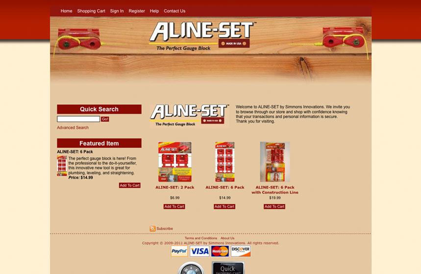 Aline-Set Website Shopping Cart