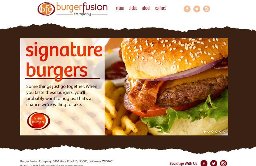 Burger Fusion Company Website