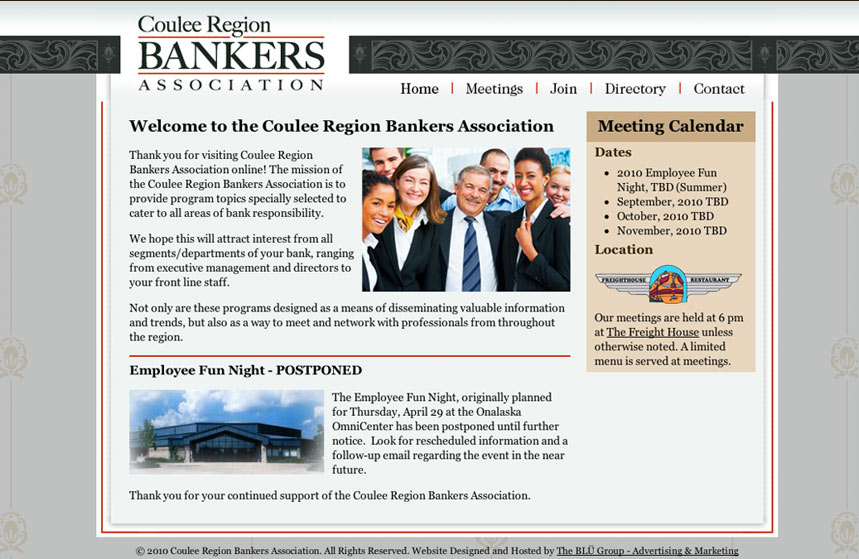 Coulee Region Bankers Association Website