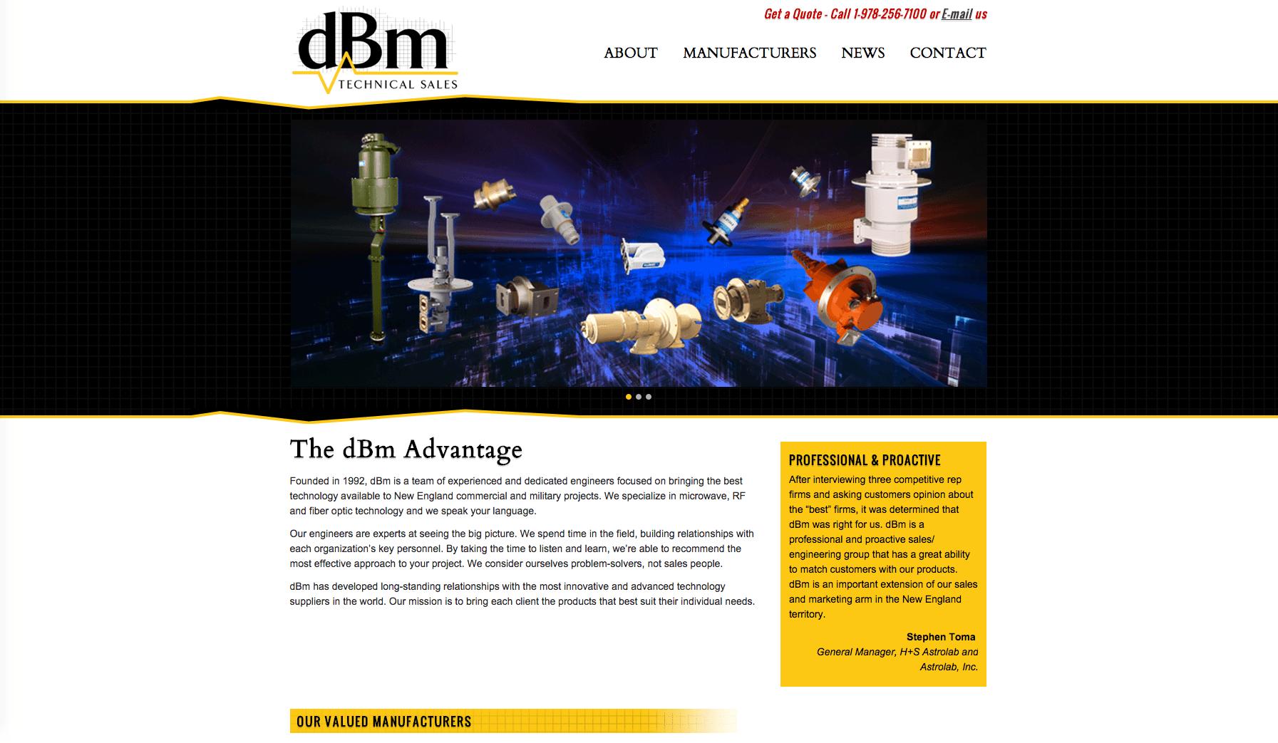 dBm Technical Sales Website