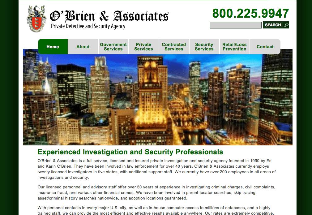 O' Brien and Associates Website
