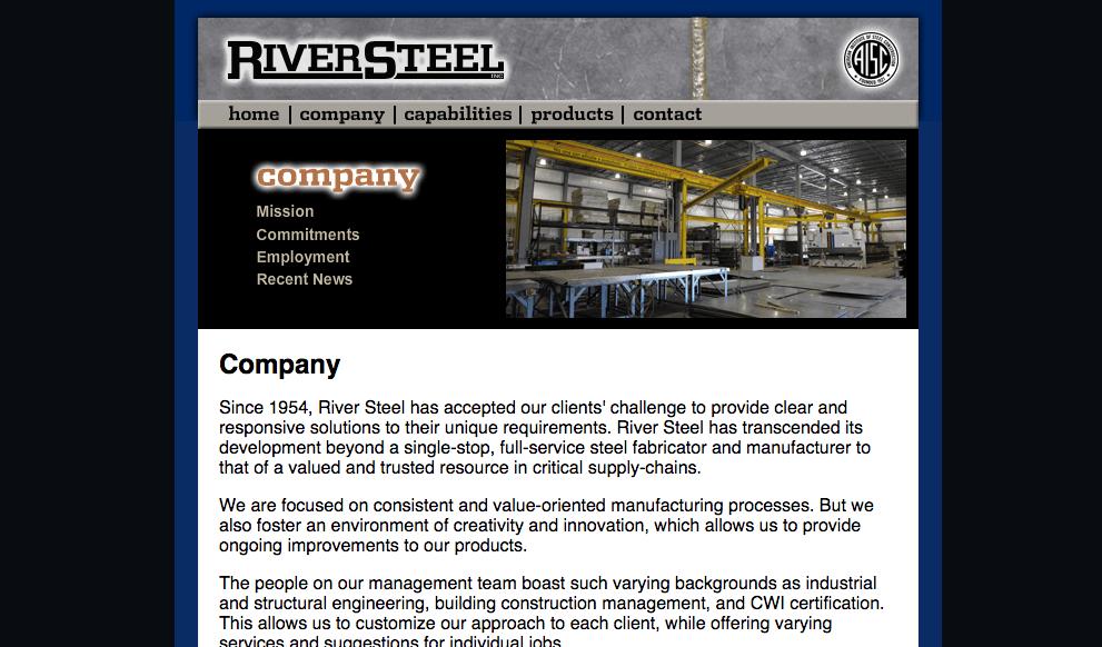 River Steel Website