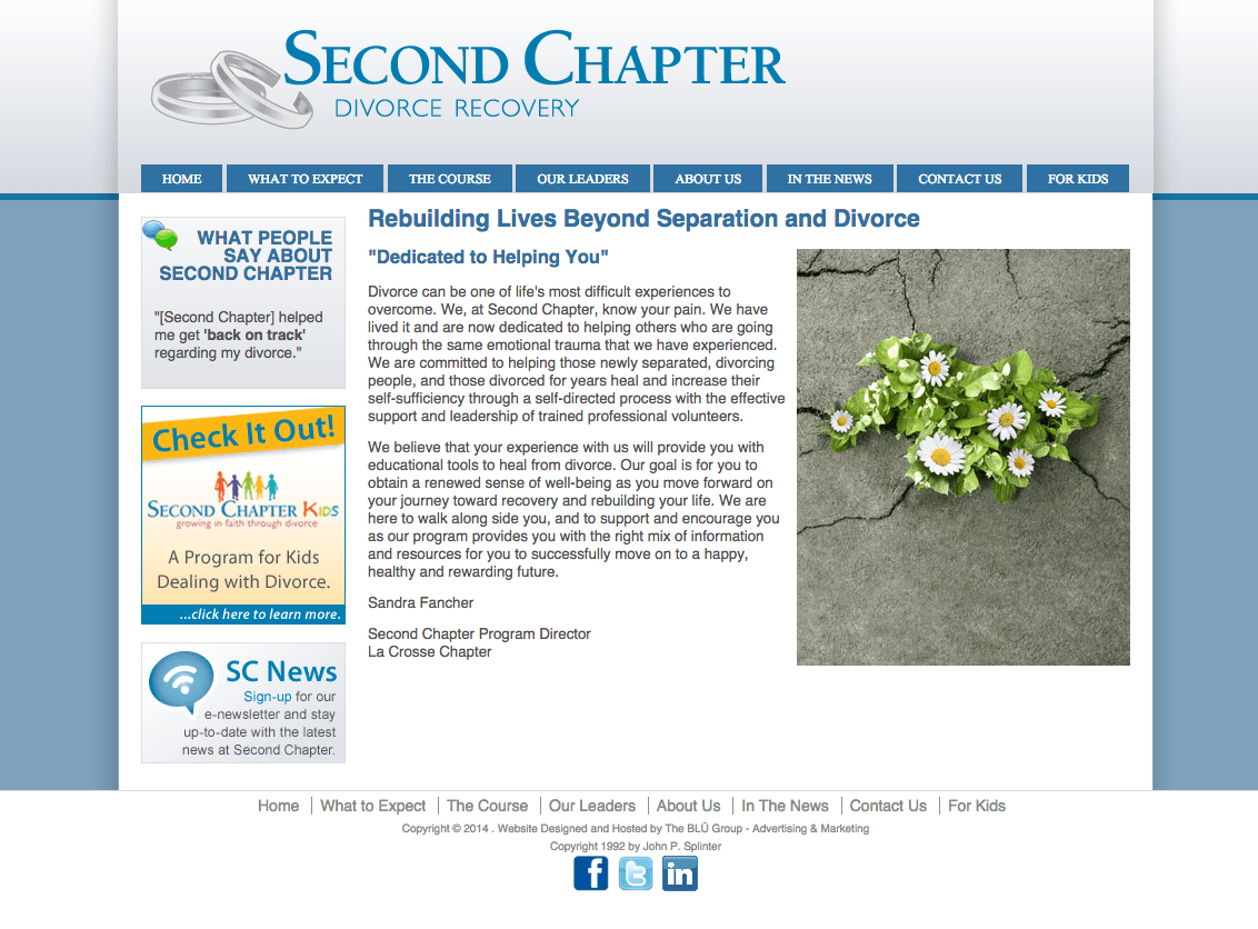 Second Chapter Divorce Recovery Website