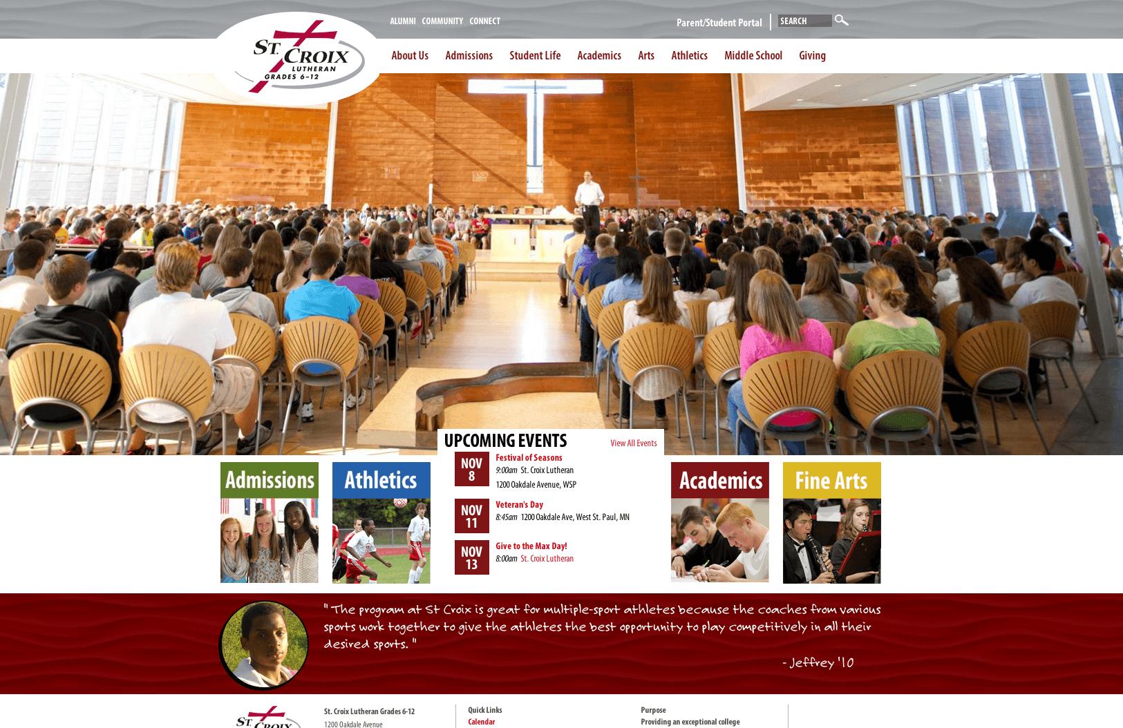 St Croix Lutheran Schools Website