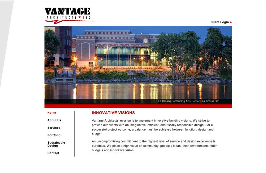 Vantage Architects Website