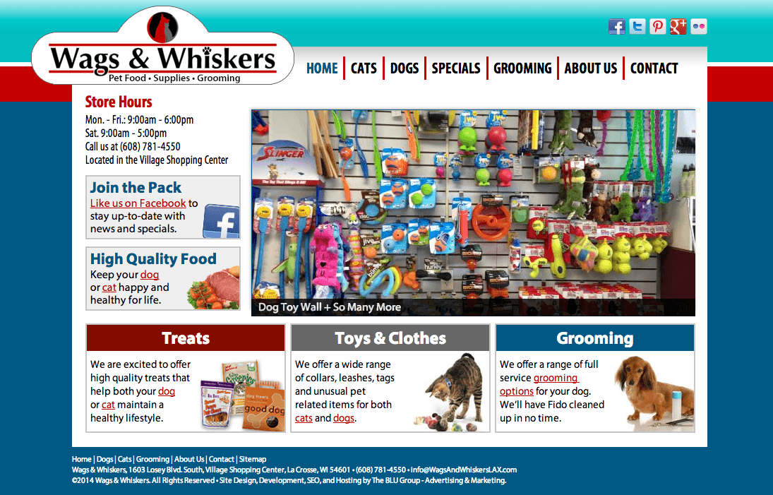 Wags and Whiskers Website